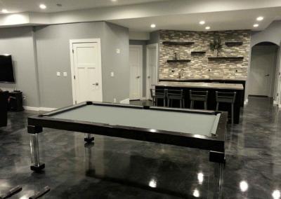 Steel Dining Room Pool Table 1