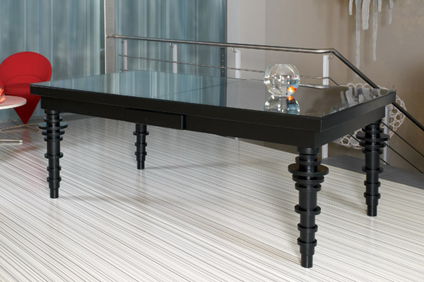 Contemporary Dining Room Pool Table 8